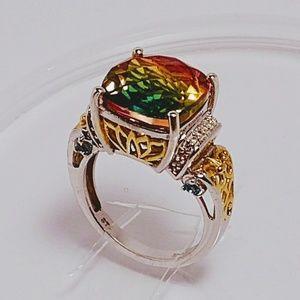 Jewelry - 💝🎅🎄💍🌈 Rainbow Quartz Ring 14k YG➡